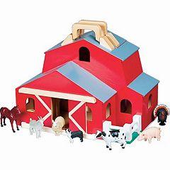 Melissa & Doug Wooden Two-Story Barn