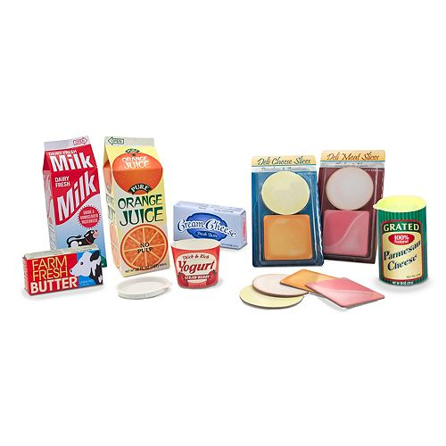 Let's Play House! Fridge Groceries Play Set by Melissa & Doug