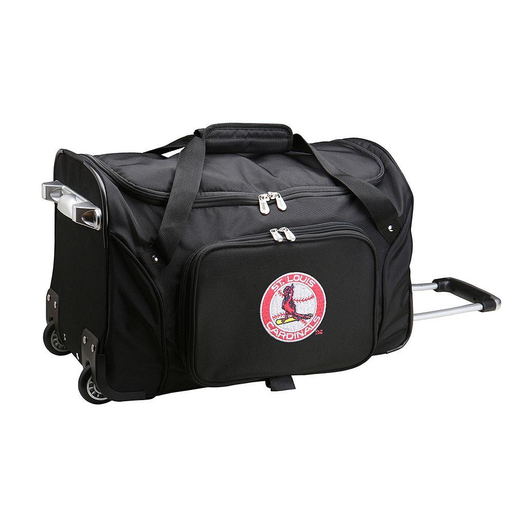 Denco St. Louis Cardinals 22-Inch Wheeled Duffel Bag