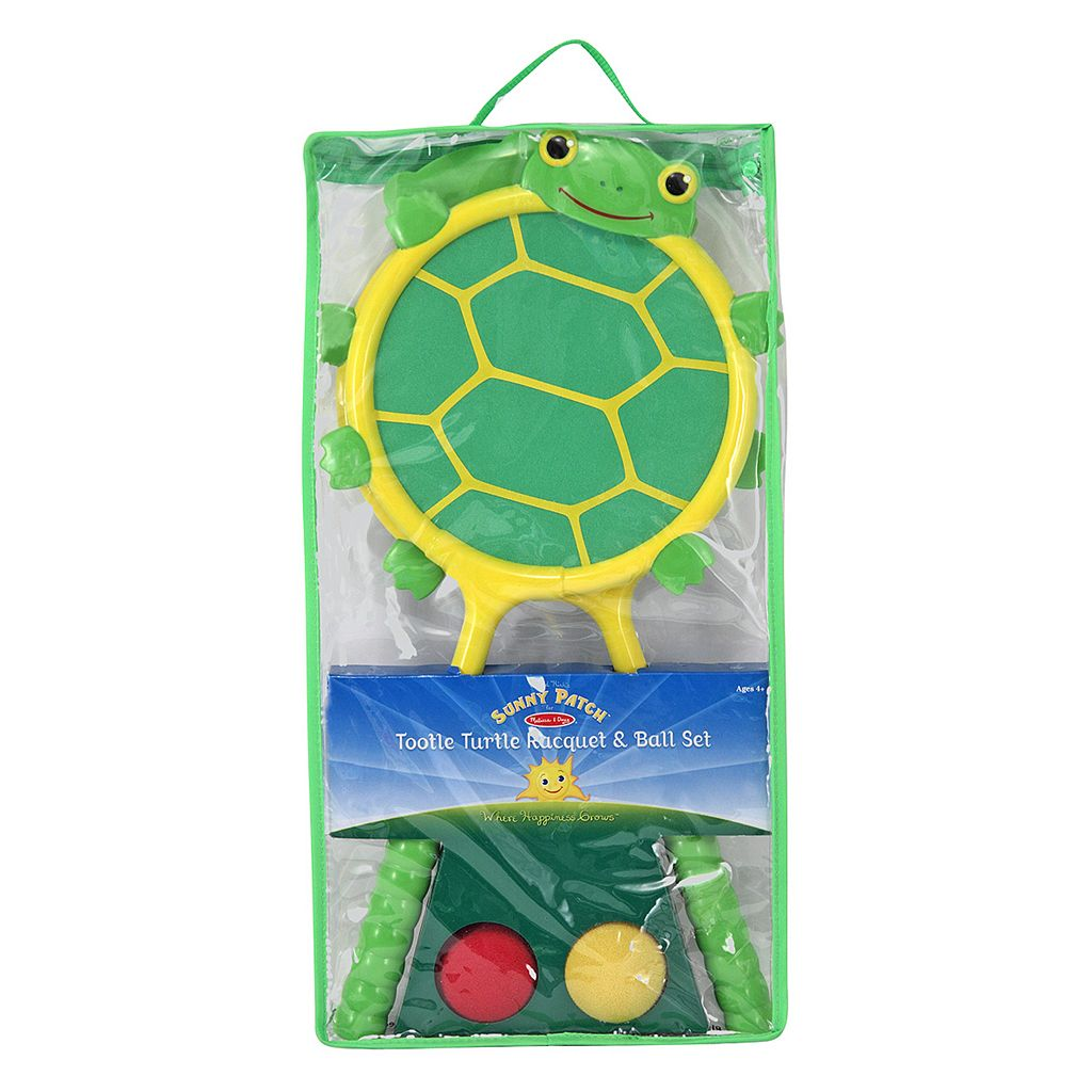 Melissa & Doug Tootle Turtle Racquet & Ball Set