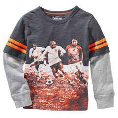 Boys 4-7 OshKosh B'gosh® Mock-Layered Soccer Graphic Tee