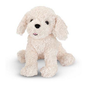 Melissa & Doug Fluffy Bichon Frise Dog Plush Toy