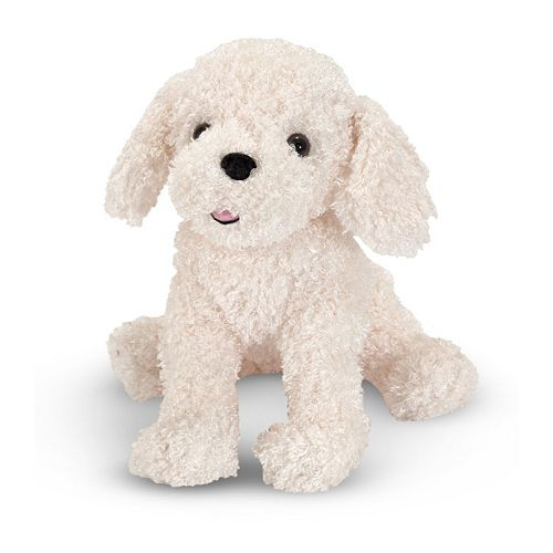 Melissa & Doug Fluffy Bichon Frise Dog Plush Toy