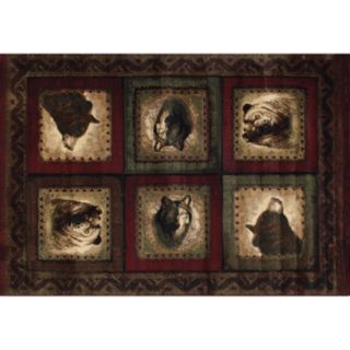 United Weavers Designer Contours Bears and Wolf Rug