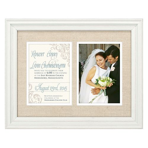 malden 2 opening wedding invitation frame