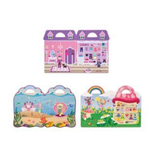 Melissa & Doug Fairy, Dress-Up & Mermaid Puffy Sticker Set