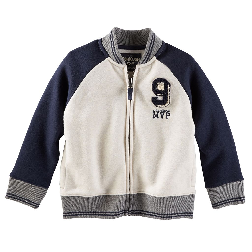 Boys 4-7 OshKosh B'gosh® Fleece Varsity Jacket