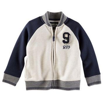 Boys 4-7 OshKosh B'gosh® Fleece Varsity Jacket