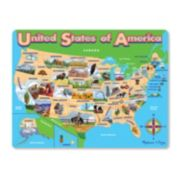 Melissa & Doug USA Map Jigsaw Puzzle