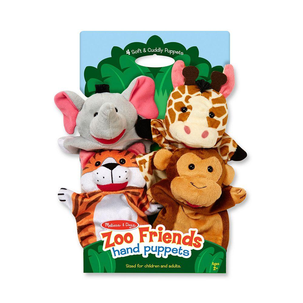 Melissa & Doug Zoo Friends Hand Puppets