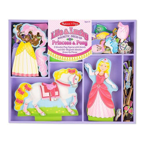 Melissa & Doug Lila & Lucky Magnetic Dress-Up Set
