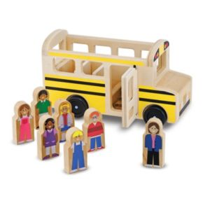 Melissa & Doug Wooden School Bus Play Set