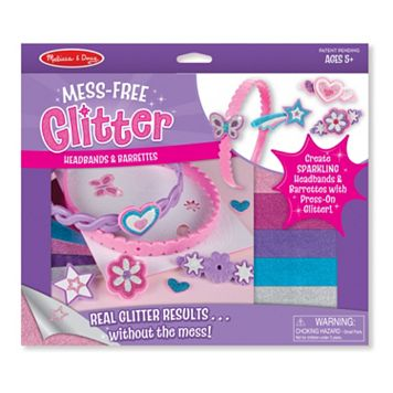 Melissa & Doug Mess-Free Glitter Headbands & Barrettes Craft Set