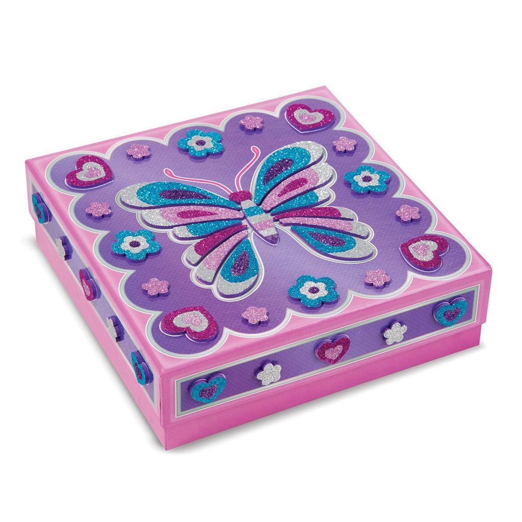 Melissa & Doug Mess-Free Glitter Treasure Box & Mirror Craft Set