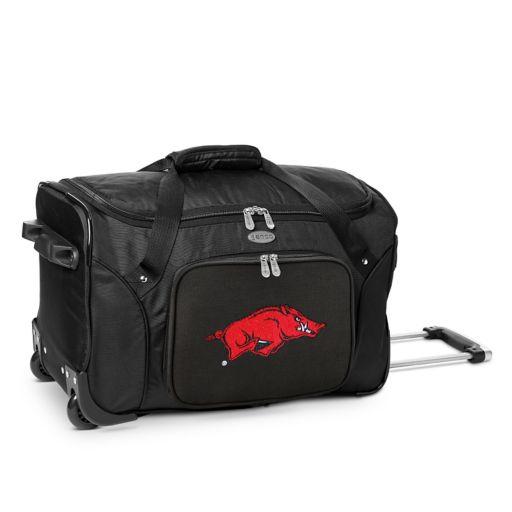 Denco Arkansas Razorbacks 22-Inch Wheeled Duffel Bag