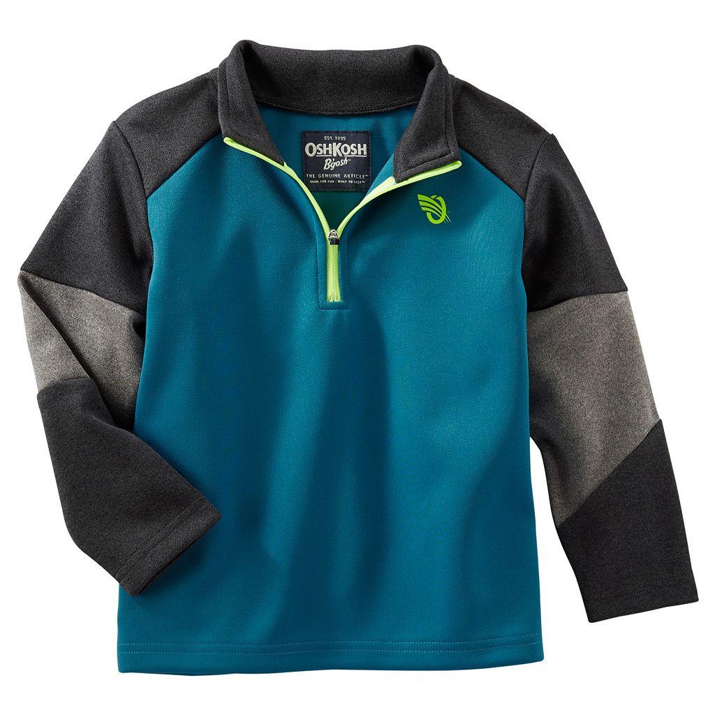 Boys 4-7 OshKosh B'gosh® Colorblock Quarter-Zip Pullover