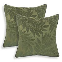 Alessandra 2 pc Chenille Leaves Jacquard Throw Pillow Set