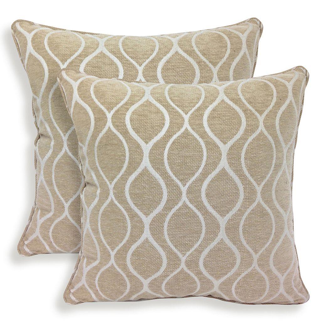 Gemma 2-piece Chenille Geometric Throw Pillow Set