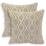 Gemma 2 pc Chenille Geometric Throw Pillow Set