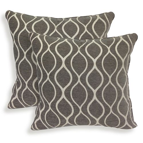 Gemma 2-piece Chenille Geometric Throw Pillow Set