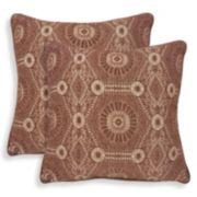 Heston 2-piece Chenille Medallion Throw Pillow Set