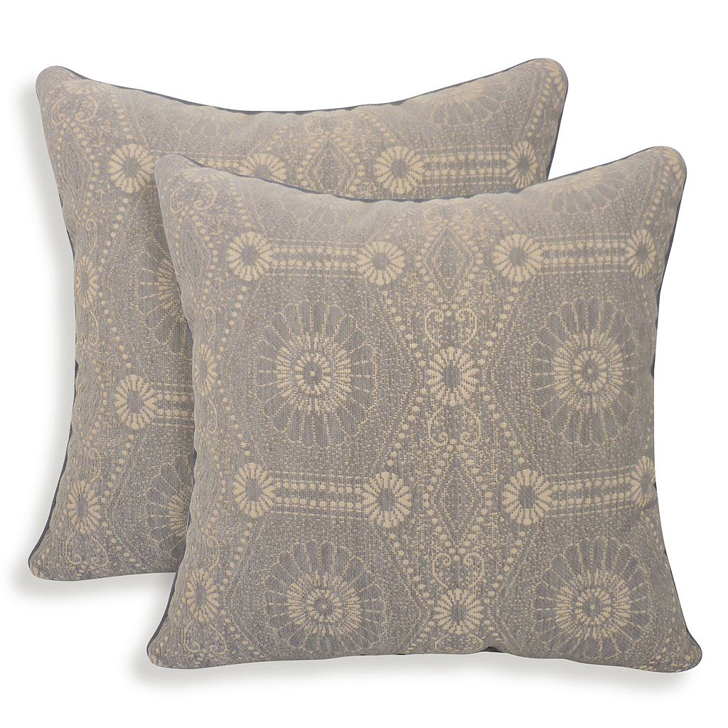 Heston 2-piece Chenille Medallion Throw Pillow Set