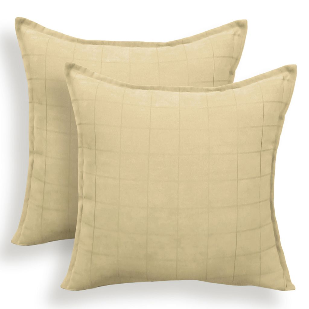 Mendon 2-piece Embossed Suede Throw Pillow Set