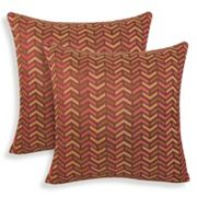 Mona 2 pc Woven Geometric Throw Pillow Set