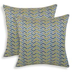 Mona 2-piece Woven Geometric Throw Pillow Set