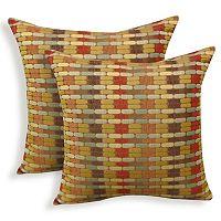 Othello 2 pc Jacquard Geometric Throw Pillow Set
