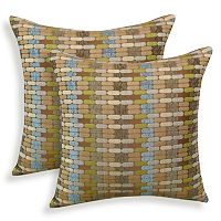 Othello 2 pc Jacquard Geometric Throw Pillow Set
