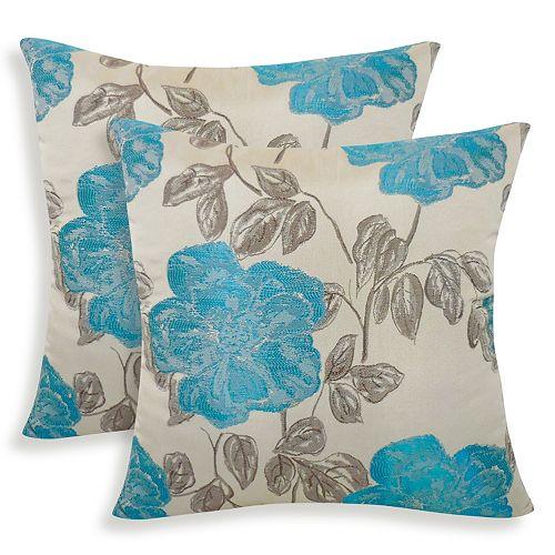 Phala 2-piece Embroidered Watercolor Throw Pillow Set