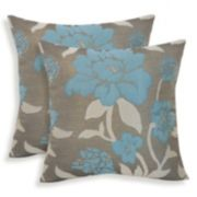 Rosemary 2-piece Silken Jacquard Floral Throw Pillow Set
