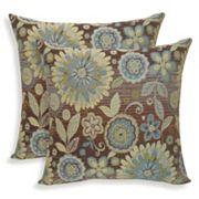 Rosita 2 pc Woven Jacquard Throw Pillow Set