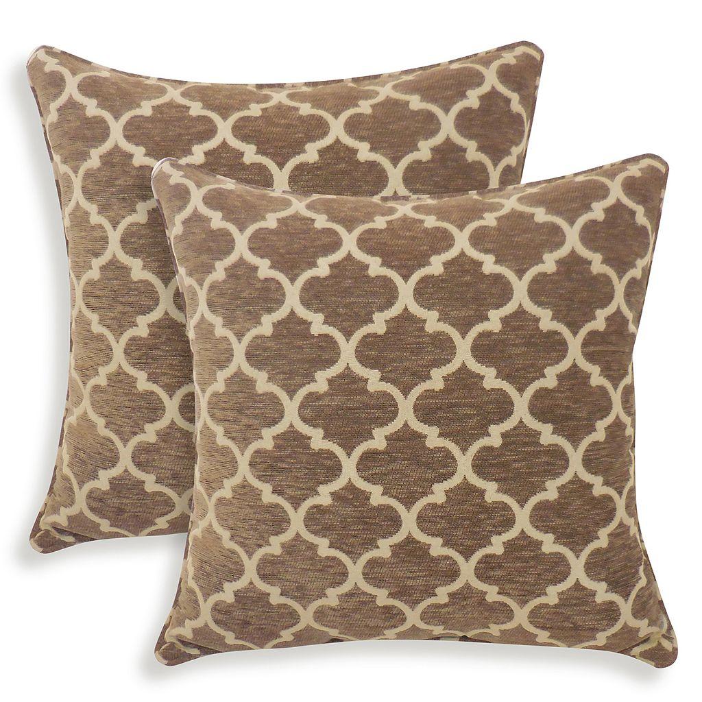 Sandglass 2-piece Chenille Geometric Throw Pillow Set