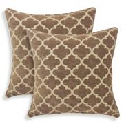 Sandglass 2 pc Chenille Geometric Throw Pillow Set