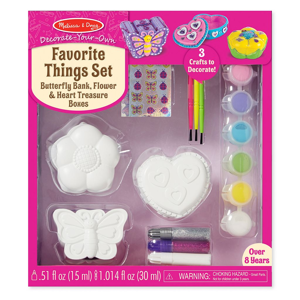 Melissa & Doug Decorate-Your-Own Favorite Things Craft Set