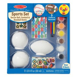 Melissa & Doug Decorate-Your-Own Sports Craft Set