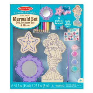 Melissa & Doug Decorate-Your-Own Mermaid Craft Set