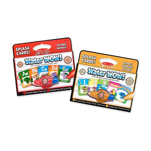 Melissa & Doug Water Wow! Splash Alphabet, Numbers & Colors Card Set