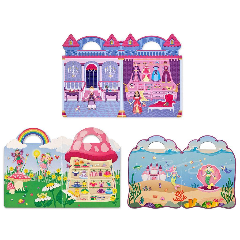 Melissa & Doug Princess, Mermaid & Fairy Puffy Sticker Set