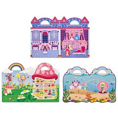 Melissa & Doug Princess, Mermaid & Fairy Puffy Sticker Set