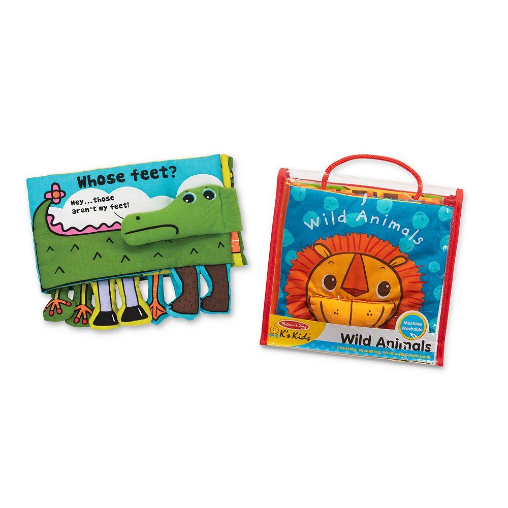 Melissa & Doug K's Kids Cloth Book Bundle - Animals