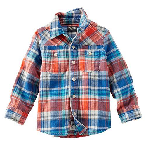 Boys 4-7 OshKosh B'gosh® Plaid Button-Down Shirt