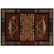 United Weavers Designer Contours Rainbow Trout Rug