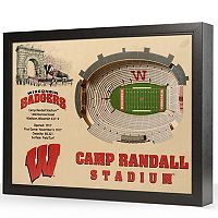 Wisconsin Badgers StadiumViews 3D Wall Art