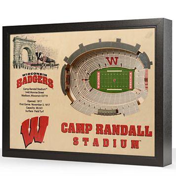 Wisconsin Badgers StadiumViews 3D Wall Art