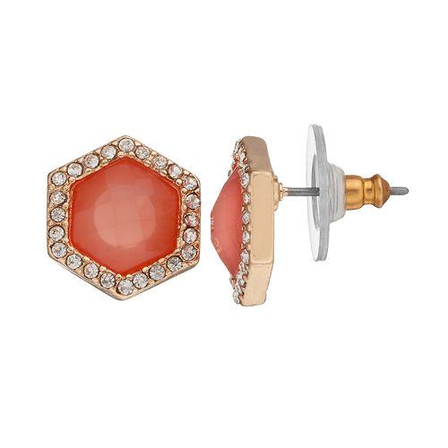 LC Lauren Conrad Hexagon Stud Earrings