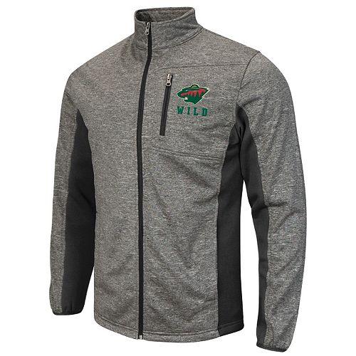 Men's Minnesota Wild Space-Dye Full-Zip Fleece Jacket