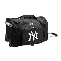 Denco New York Yankees 22-Inch Wheeled Duffel Bag